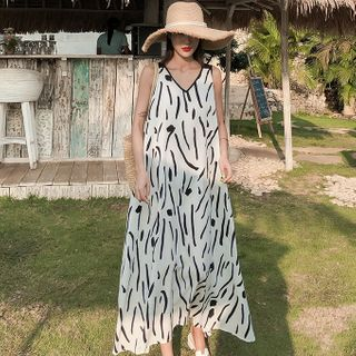 Kotilo - Sleeveless Maxi Printed Sundress