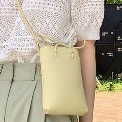 FROMBEGINNING - Handled Pleather Crossbody Bag