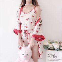 AKANYA - Berry Print Pajama Set