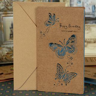 DAILYCRAFT - Kraft Paper Cutout Greeting Card (various designs)