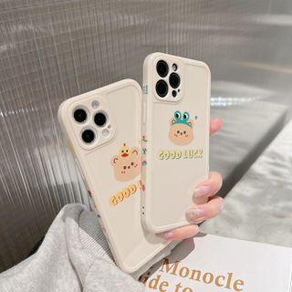 kloudkase - Bear Print Phone Case - iPhone 12 Pro Max / 12 Pro / 12 / 12 mini / 11 Pro Max / 11 Pro / 11 / SE / XS Max / XS / XR / X / SE 2 / 8 / 8 Plus / 7 / 7 Plus