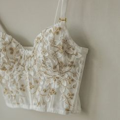Nabla - Floral Embroidered Bustier