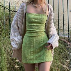 Honet - Strappy Knit Sheath Dress