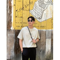 GERIO - Letter-Printed Cotton T-Shirt
