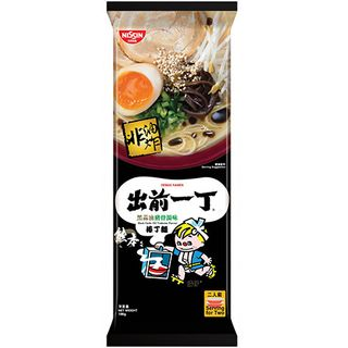 Nissin - Demae Iccho Bar Noodle - Black Garlic Oil Tonkotsu Flavour (Serves 2)