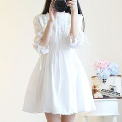 Kira Kira - Bell-Sleeve Mini A-Line Dress
