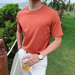 Orizzon - Plain Short-Sleeve T-Shirt