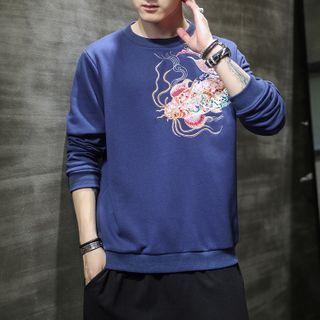 Andrei - Fish Embroidered Sweatshirt
