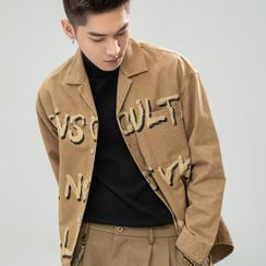 Orizzon - Lettering Shirt Jacket