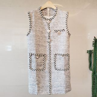 Shanniah - Sleeveless Mini Tweed Dress