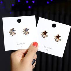 Gold Beam - 合金星星耳環