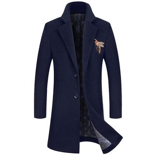Andrei - Embroidered Single-Breasted Coat
