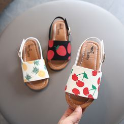 Doradas - Kids Fruit Print Belted Velcro Sandals