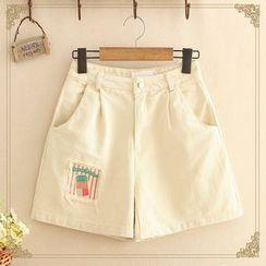 Kawaii Fairyland - Patched Shorts