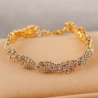 Ignar - Irregular Rhinestone Bangle