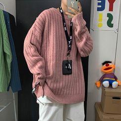 Bay Go Mall(ベイゴーモール) - Plain Long-Sleeve Knit Top