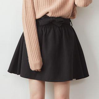 BAIMOMO - Belted Mini Skirt