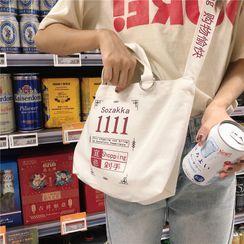 Ms Bean(ミズビーン) - Printed Crossbody Bag / Tote Bag