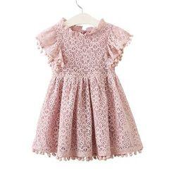 Cuckoo - Kids Sleeveless A-Line Lace Dress
