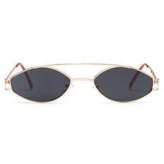 Aisyi - Retro Metal Frame Sunglasses