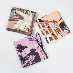 Soiea - 印花色丁领围巾