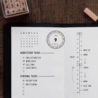 OH.LEELY - Wood Print Memo Stamp (10 designs)