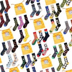 Saysmith - Set of 5: Printed Socks
