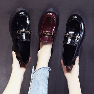Zimu - Faux Leather  Platform Loafers