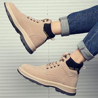Bendion(ベンディオン) - Lace Up Platform Ankle Boots