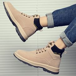 Bendion - Lace Up Platform Ankle Boots