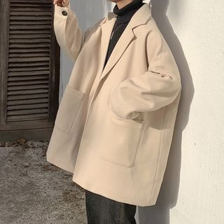 Soulcity - Oversize Lapel Woolen Coat