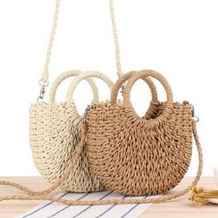 STYLE CICI - Woven Basket Tote Bag