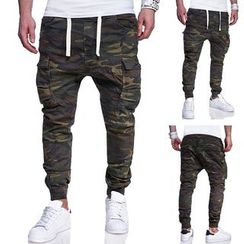 Hansel - Drawstring Camo Jogger Pants