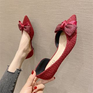 The Shoe House(ザ シューハウス) - Pointed Bow Detail Flats