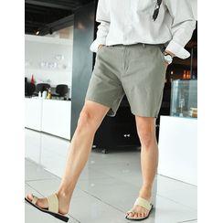 GERIO - Zip-Fly Cotton Shorts