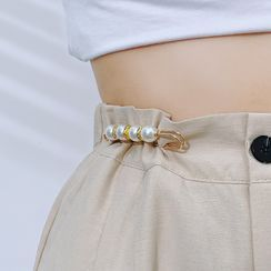Cloffice - Faux Pearl Waist Adjusting Safety Pin