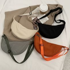 Ninorch - Plain Zip Crossbody Hobo Bag