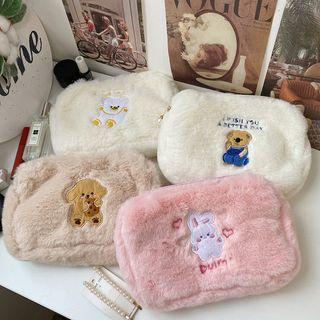 Intimo - Animal Chenille Makeup Bag