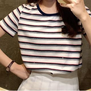 Shinsei - Short-Sleeve Striped T-Shirt