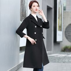 Celestia - Double-Breasted Wool Coat