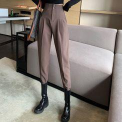 Attune(アチューン) - High-Waist Straight Fit Pants