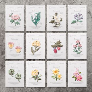 Embroidery Kingdom(エンブロイダリーキングダム) - Flower Patch / Set of 14: Flower Patch