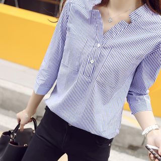 Vinales - 開領條紋襯衫