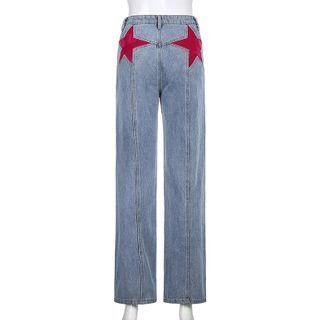 BrickBlack - Star Patch Boot-Cut Jeans
