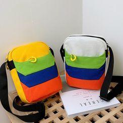 OUCHA(ウーチャ) - Color Block Canvas Crossbody Bag