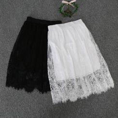 Purseka - 蕾絲中裙