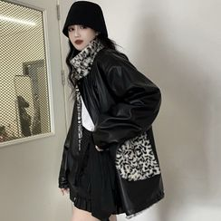 Gilmort(ギルモート) - Reversible Leopard Print Fleece Jacket