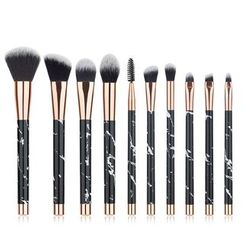 Beautrend - Set of 10: Marble Print Makeup Brushes