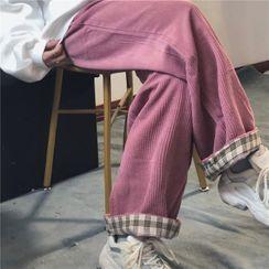 MAPOGO - Corduroy Straight-Leg Pants