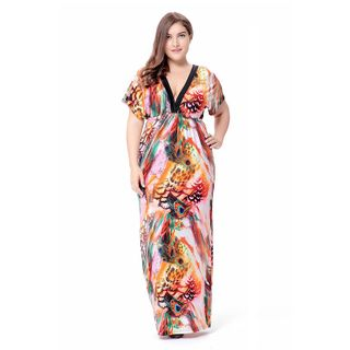 Chelsie Chic - 短袖印花塑身連衣裙